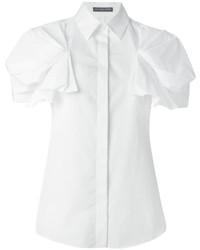 Camicia a maniche corte bianca di Alexander McQueen