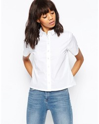 Camicia a maniche corte bianca di Asos