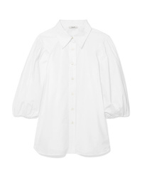 Camicia a maniche corte bianca di Ganni