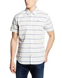 Camicia a maniche corte bianca di Hilfiger Denim