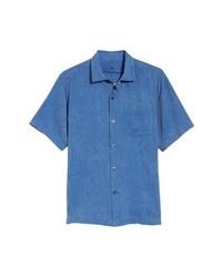 Camicia a maniche corte blu