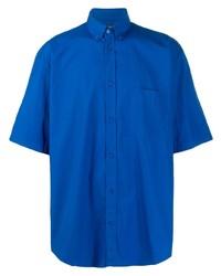 Camicia a maniche corte blu di Balenciaga