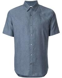 Camicia a maniche corte blu di Cerruti 1881