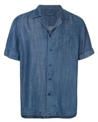 Camicia a maniche corte blu di Frescobol Carioca