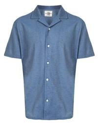 Camicia a maniche corte blu di Kent & Curwen