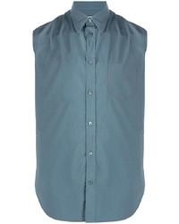 Camicia a maniche corte blu di Maison Margiela
