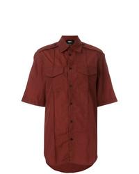 Camicia a maniche corte bordeaux di Yang Li
