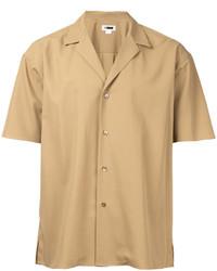 Camicia a maniche corte marrone chiaro