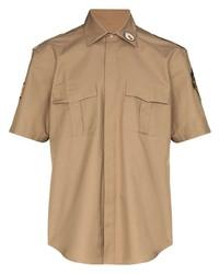 Camicia a maniche corte marrone chiaro di Phipps