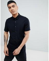 Camicia a maniche corte nera di ASOS DESIGN