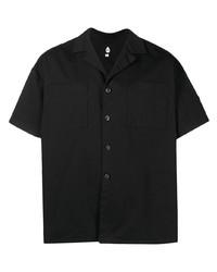 Camicia a maniche corte nera di DUOltd