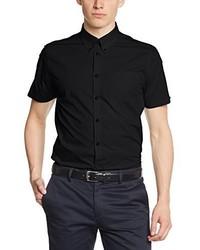 Camicia a maniche corte nera di Merc London