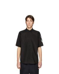 Camicia a maniche corte nera di Raf Simons