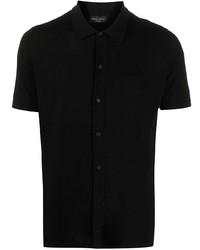 Camicia a maniche corte nera di Roberto Collina
