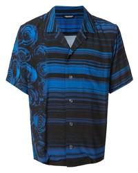 Camicia a maniche corte stampata blu di Christian Dada