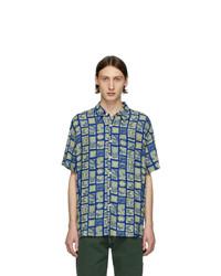 Camicia a maniche corte stampata blu di Noon Goons