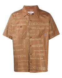 Camicia a maniche corte stampata marrone chiaro di Martine Rose