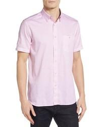 Camicia a maniche corte stampata rosa