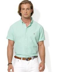Camicia a maniche corte verde menta