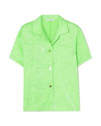 Camicia a maniche corte verde menta di Rejina Pyo