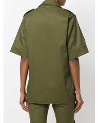 Camicia a maniche corte verde oliva di MARQUES ALMEIDA