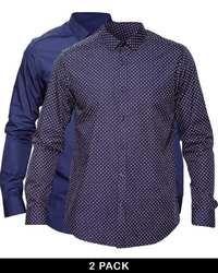 Camicia a maniche lunghe a pois blu scuro di Asos