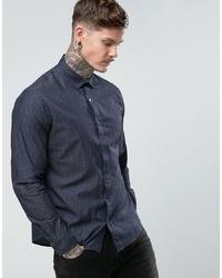 Camicia a maniche lunghe a pois blu scuro di People Tree