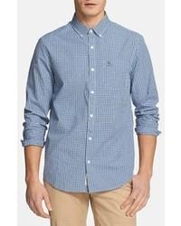 Camicia a maniche lunghe a quadretti blu