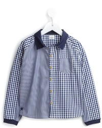 Camicia a maniche lunghe a quadretti blu di No Added Sugar