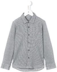 Camicia a maniche lunghe a quadri grigia