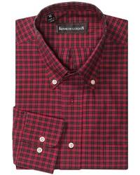 Camicia a maniche lunghe a quadri rossa e nera