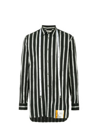 informazioni per e5a0e 416ee Camicie a maniche lunghe a righe verticali bianche e nere da ...
