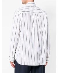 brand new 2588e 953f5 Camicia a maniche lunghe a righe verticali bianca e nera di Marni