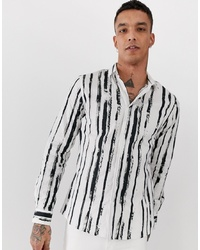 info for 3d275 e6def Camicie a maniche lunghe a righe verticali bianche e nere da ...