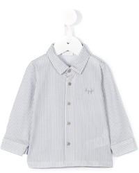 Camicia a maniche lunghe a righe verticali bianca