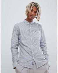 Camicia a maniche lunghe a righe verticali blu di Calvin Klein Jeans