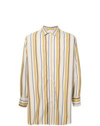 the latest 72602 480fd Camicie a maniche lunghe a righe verticali gialle da uomo ...