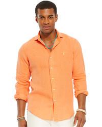 Camicia a maniche lunghe arancione