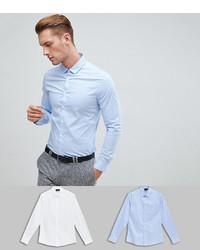 Camicia a maniche lunghe azzurra di ASOS DESIGN