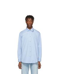 Camicia a maniche lunghe azzurra di Balenciaga
