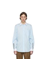 Camicia a maniche lunghe azzurra di Burberry