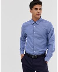 Camicia a maniche lunghe azzurra di Burton Menswear