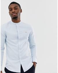 Camicia a maniche lunghe azzurra di Farah