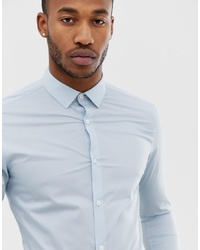 Camicia a maniche lunghe azzurra di Farah Smart