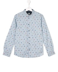 Camicia a maniche lunghe azzurra di Paul Smith