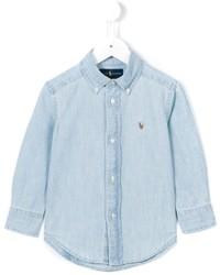 Camicia a maniche lunghe azzurra di Ralph Lauren