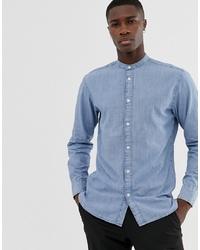 Camicia a maniche lunghe azzurra di Selected Homme