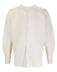 Camicia a maniche lunghe beige di Homme Plissé Issey Miyake