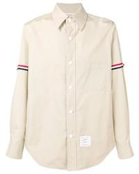 Camicia a maniche lunghe beige di Thom Browne