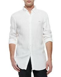 Camicia a maniche lunghe bianca